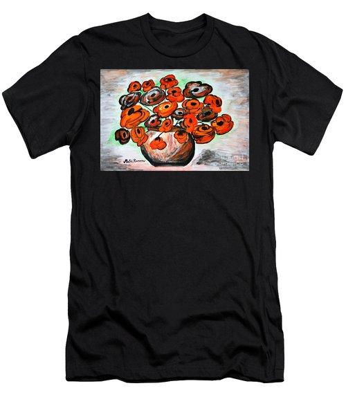 Black Poppies Men's T-Shirt (Athletic Fit)