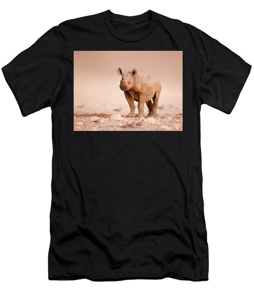 Black Rhinoceros Baby Men's T-Shirt (Athletic Fit)