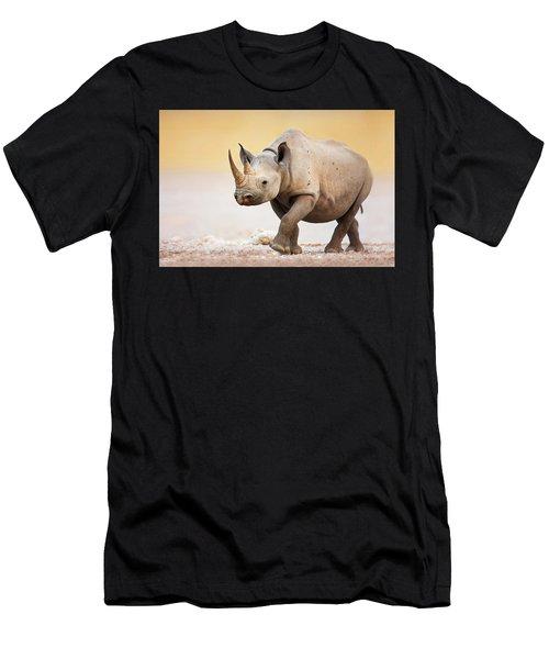 Black Rhinoceros Men's T-Shirt (Athletic Fit)