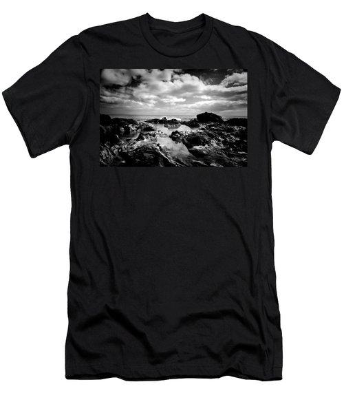 Black Rocks 1 Men's T-Shirt (Athletic Fit)