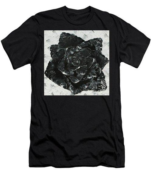 Black Rose I Men's T-Shirt (Athletic Fit)