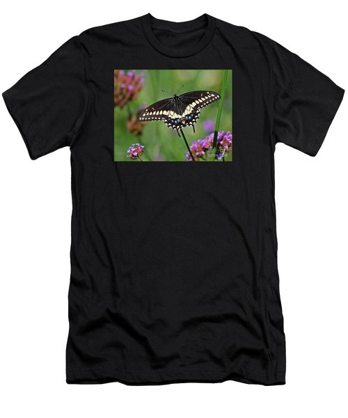Black Swallowtail Butterfly  Men's T-Shirt (Athletic Fit)