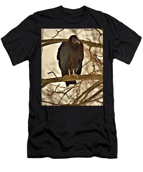 Black Vulture 1 Men's T-Shirt (Athletic Fit)