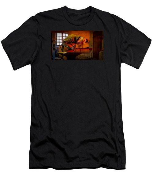 Blacksmith In Torresta Men's T-Shirt (Slim Fit) by Torbjorn Swenelius