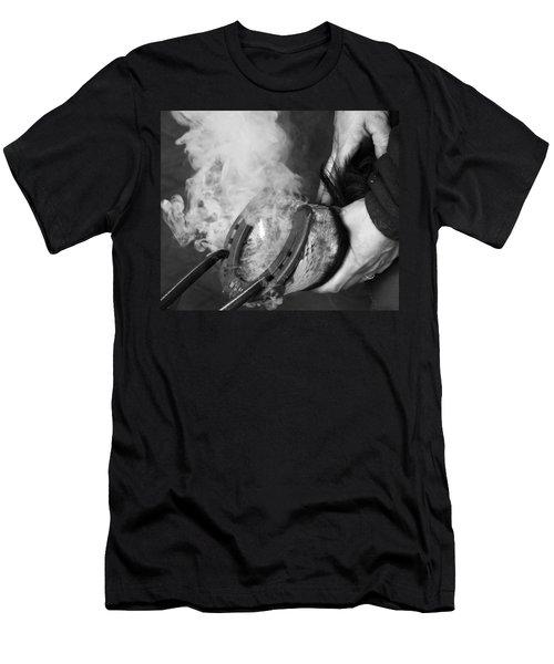 Blacksmith With Horseshoe - Traditional Craft Men's T-Shirt (Slim Fit) by Matthias Hauser