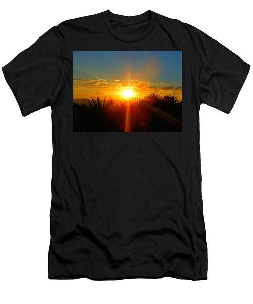 Blaze In The Desert Men's T-Shirt (Athletic Fit)
