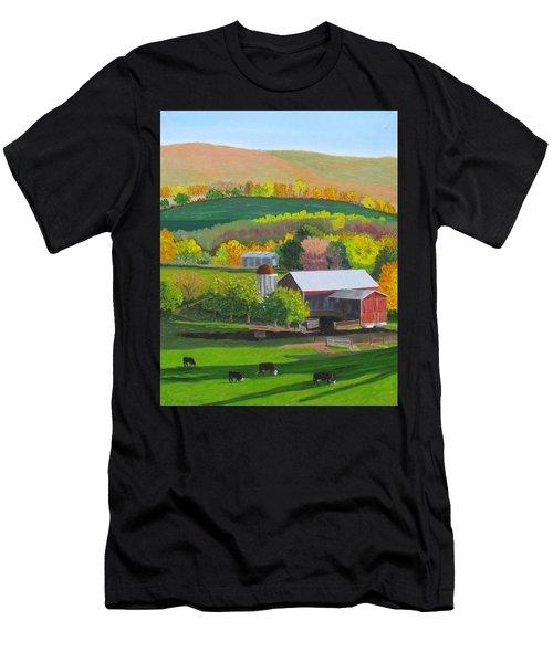 Blazing Autumn Color Men's T-Shirt (Athletic Fit)