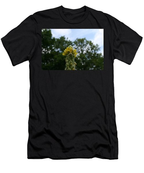 Men's T-Shirt (Slim Fit) featuring the photograph Blended Golden Rod Crab Spider On Mullein Flower by Neal Eslinger