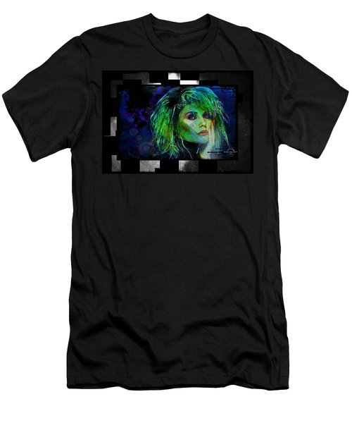 Blondie - Debbie Harry Men's T-Shirt (Slim Fit) by Absinthe Art By Michelle LeAnn Scott
