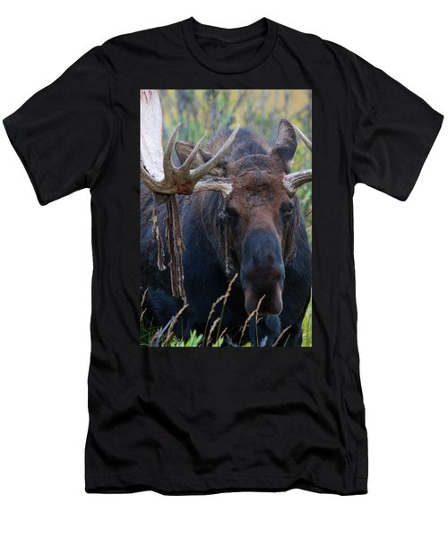 Men's T-Shirt (Slim Fit) featuring the photograph Blood In His Eye by Jim Garrison