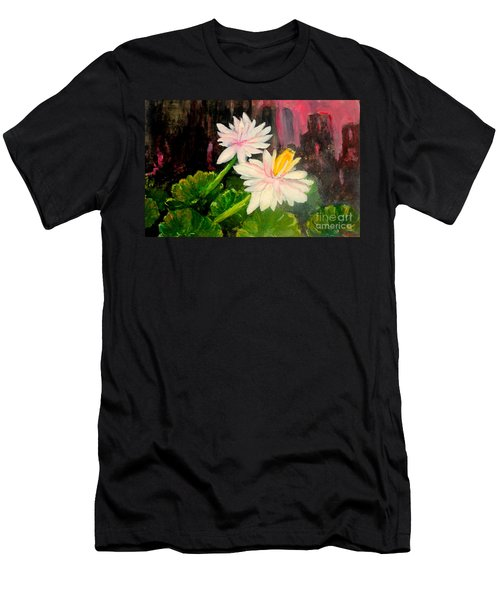 Blooming At Night  Men's T-Shirt (Athletic Fit)