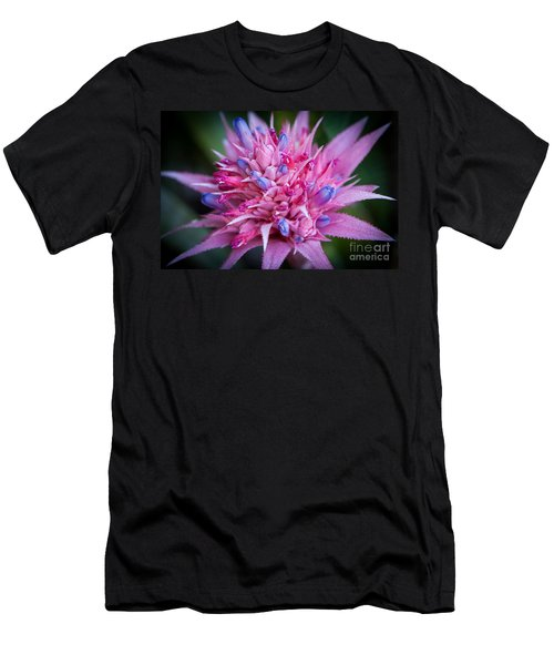 Men's T-Shirt (Athletic Fit) featuring the photograph Blooming Bromeliad by John Wadleigh