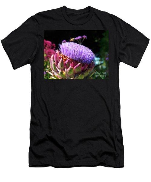 Blooming 'choke Men's T-Shirt (Slim Fit) by Kathy McClure