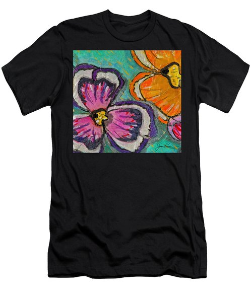 Men's T-Shirt (Slim Fit) featuring the painting Blooming Flowers by Joan Reese