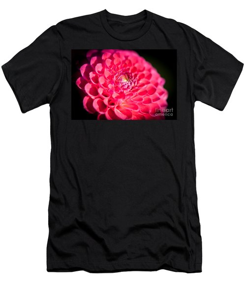 Men's T-Shirt (Athletic Fit) featuring the photograph Blooming Red Flower by John Wadleigh