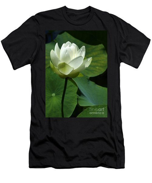 Blooming White Lotus Men's T-Shirt (Athletic Fit)