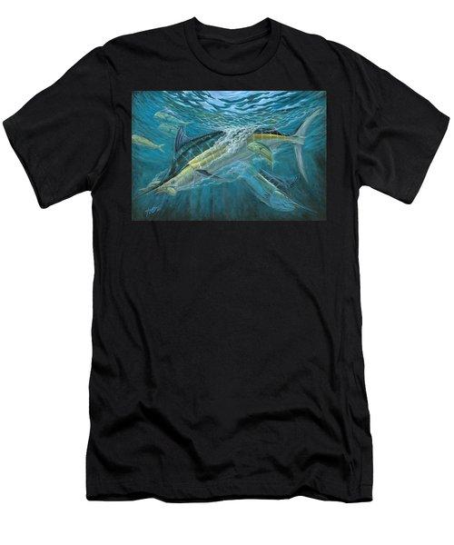 Blue And Mahi Mahi Underwater Men's T-Shirt (Athletic Fit)