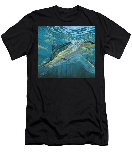 Blue And Mahi Mahi Underwater Men's T-Shirt (Athletic Fit)