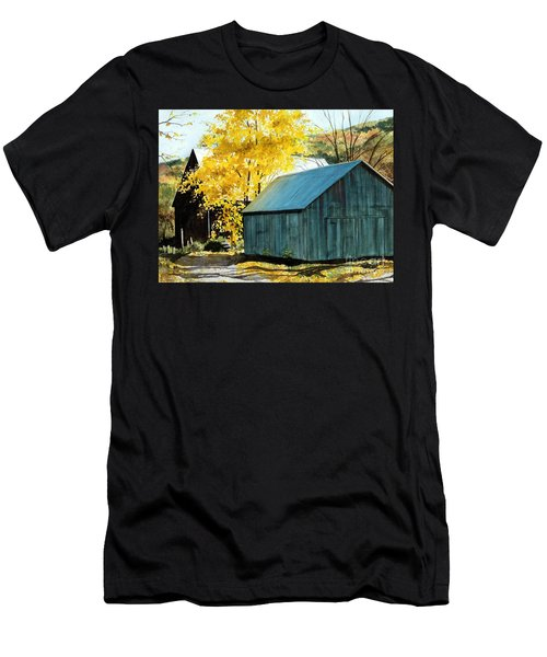 Blue Barn Men's T-Shirt (Athletic Fit)