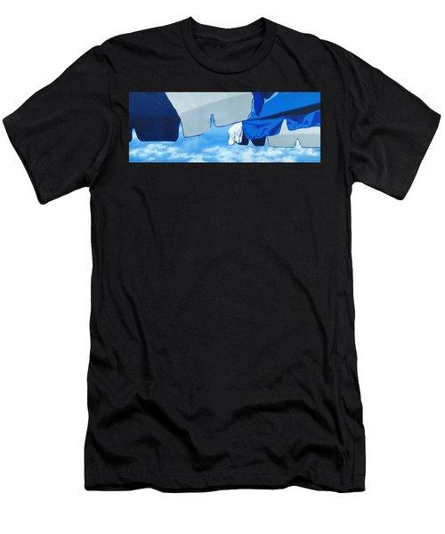 Blue Beach Umbrellas 2 Men's T-Shirt (Athletic Fit)