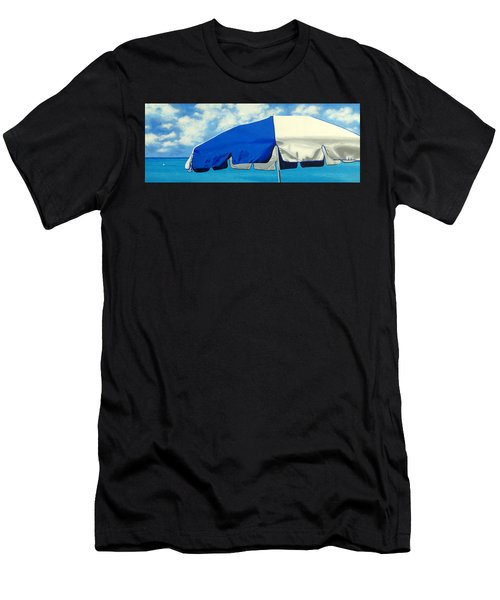 Blue Beach Umbrellas 1 Men's T-Shirt (Athletic Fit)