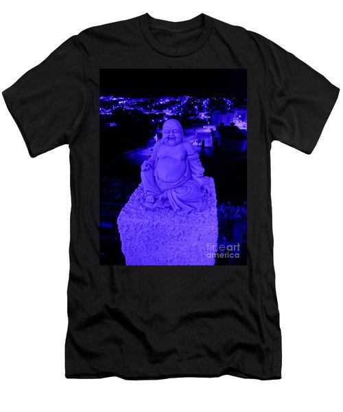 Blue Buddha And The Blue City Men's T-Shirt (Athletic Fit)