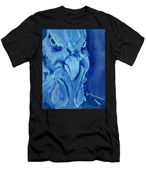 Blue Chicken Men's T-Shirt (Athletic Fit)