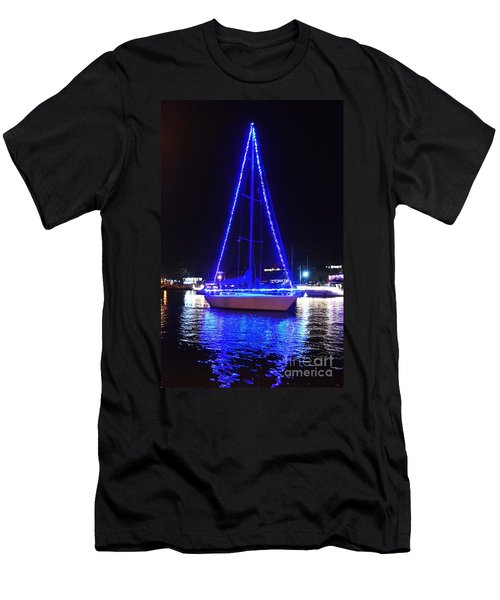 Men's T-Shirt (Athletic Fit) featuring the photograph Blue Christmas  by Laurie Lundquist