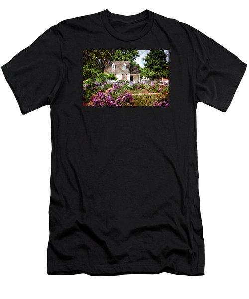 Blue Cottage Men's T-Shirt (Slim Fit) by Shari Nees