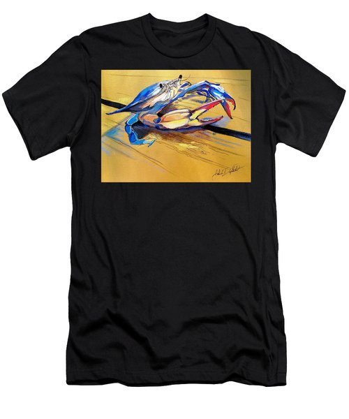 Blue Crabbie  Men's T-Shirt (Athletic Fit)