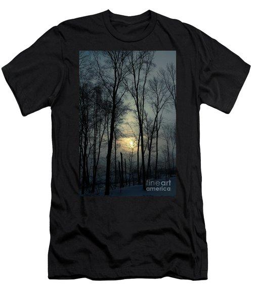 Blue Daybreak Men's T-Shirt (Slim Fit) by Karol Livote