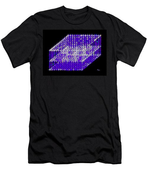 Blue Diamond Grid Men's T-Shirt (Athletic Fit)