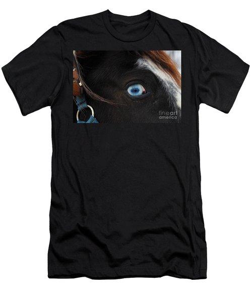 Blue Eyed Horse Men's T-Shirt (Athletic Fit)