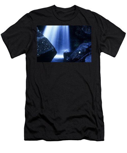 Men's T-Shirt (Slim Fit) featuring the photograph Blue Falls by Rodney Lee Williams
