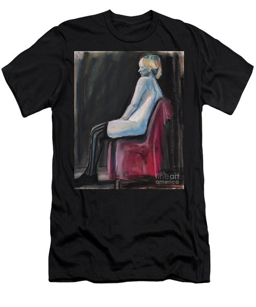 Men's T-Shirt (Athletic Fit) featuring the drawing Blue by Gabrielle Wilson-Sealy