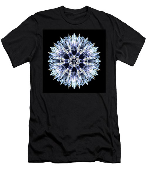 Blue Globe Thistle Flower Mandala Men's T-Shirt (Athletic Fit)