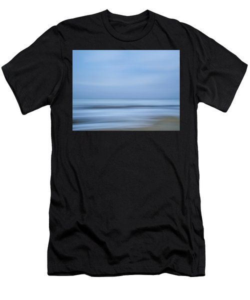 Blue Hour Beach Abstract Men's T-Shirt (Athletic Fit)