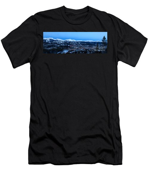Blue Hour In Breckenridge Men's T-Shirt (Slim Fit) by Ronda Kimbrow