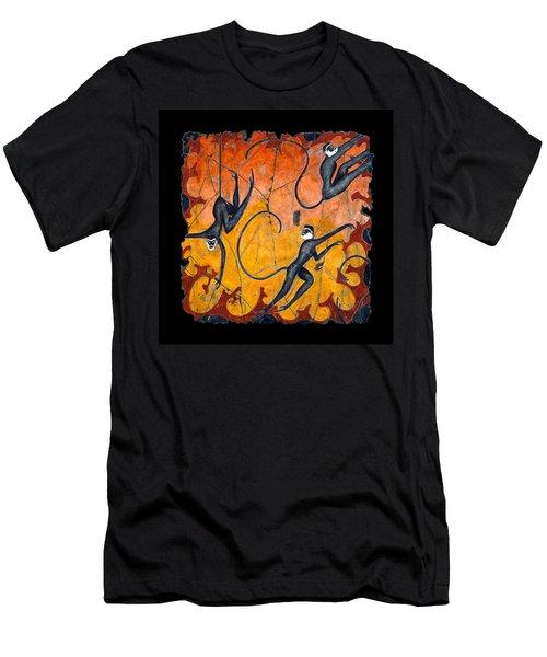 Blue Monkeys No. 9 Men's T-Shirt (Athletic Fit)