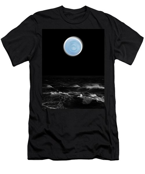 Blue Moon Over The Sea Men's T-Shirt (Athletic Fit)