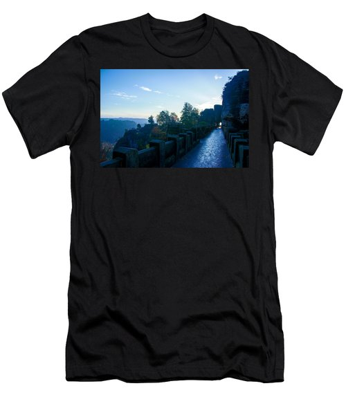 Blue Morning On The Bastei Men's T-Shirt (Athletic Fit)