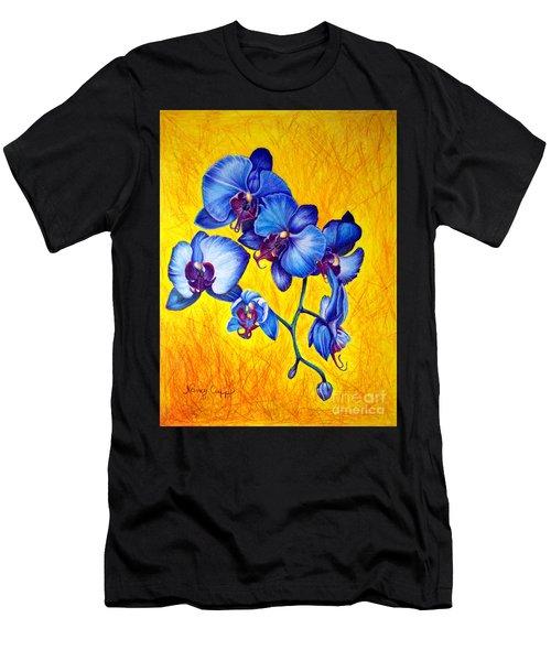 Blue Orchids 1 Men's T-Shirt (Athletic Fit)