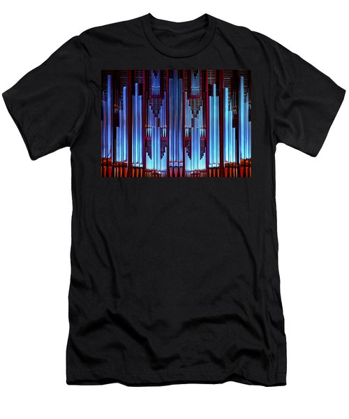 Blue Organ Pipes Men's T-Shirt (Athletic Fit)