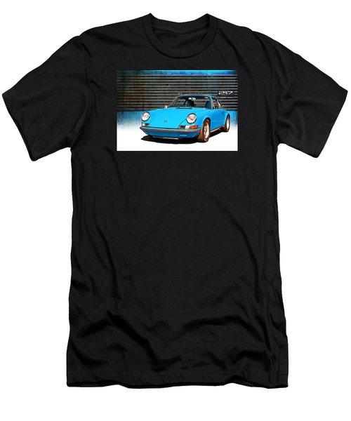 Blue Porsche 911 Men's T-Shirt (Athletic Fit)