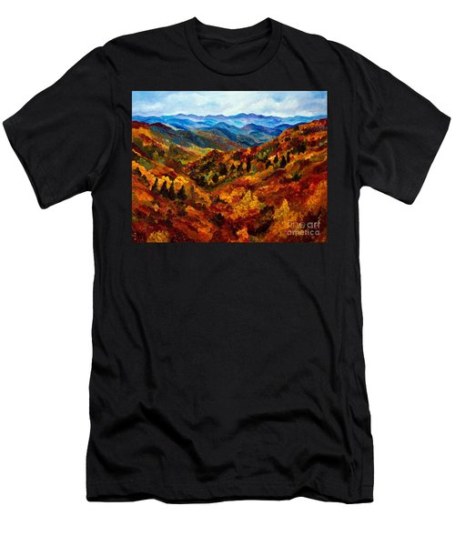 Blue Ridge Mountains In Fall II Men's T-Shirt (Slim Fit) by Julie Brugh Riffey