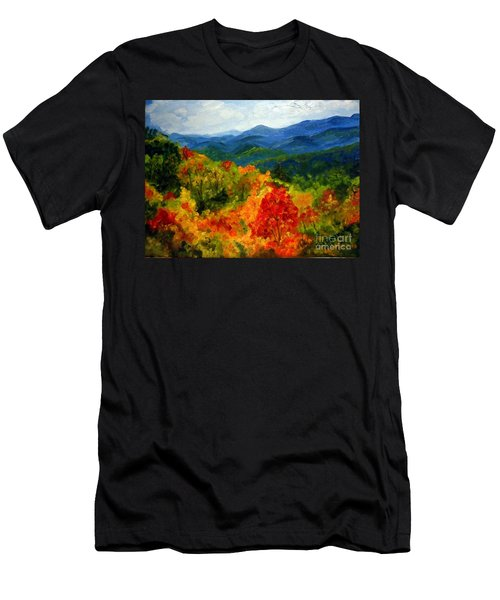 Blue Ridge Mountains In Fall Men's T-Shirt (Slim Fit) by Julie Brugh Riffey