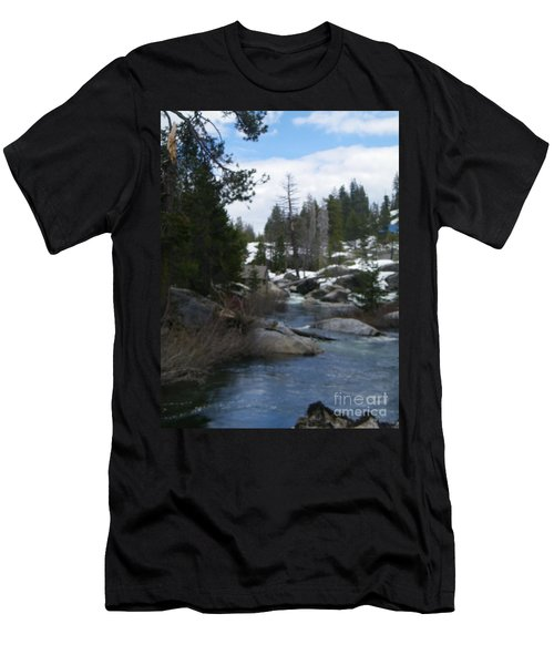 Men's T-Shirt (Slim Fit) featuring the photograph Blue Skies Of Winter by Bobbee Rickard