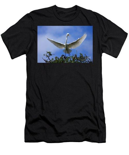 Blue Sky Landing Men's T-Shirt (Athletic Fit)