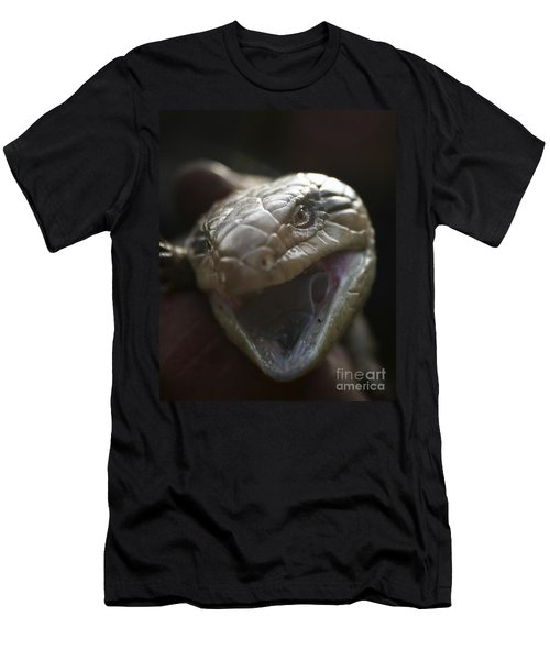 Blue Tongue Lizard Men's T-Shirt (Slim Fit) by Joy Watson