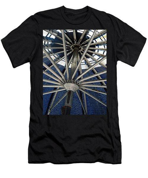 Blue Umbrella Underpinnings Men's T-Shirt (Slim Fit) by Kathy Barney
